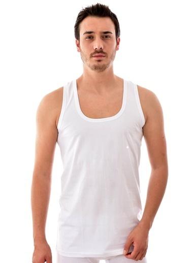 Tutku 12 Adet 0101  Erkek Penye Atlet BEYAZ Beyaz